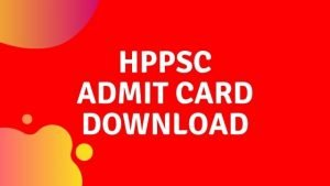 HPPSC admit card 2020: HP Subordinate Allied Services hall ticket download