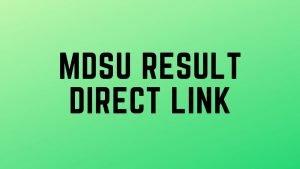 MDSU Result 2020: BA,BCOM,BSC,MSC,MA,MCOM Semester results @ mdsuexam.org
