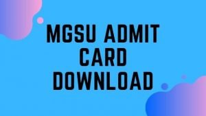MGSU Admit Card 2020: Download MGSU B.A, B.Sc, B.Com 1st, 2nd,3rd year Univindia.net Admit Card @ mgsubikaner.ac.in