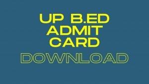 UP B.ED JEE 2020 Admit Card @ www.lkouniv.ac.in : Lucknow University B.ED JEE Admit Card Download Now
